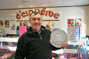 Jerry with the prestigious Bridgestone Guide award for fine produce